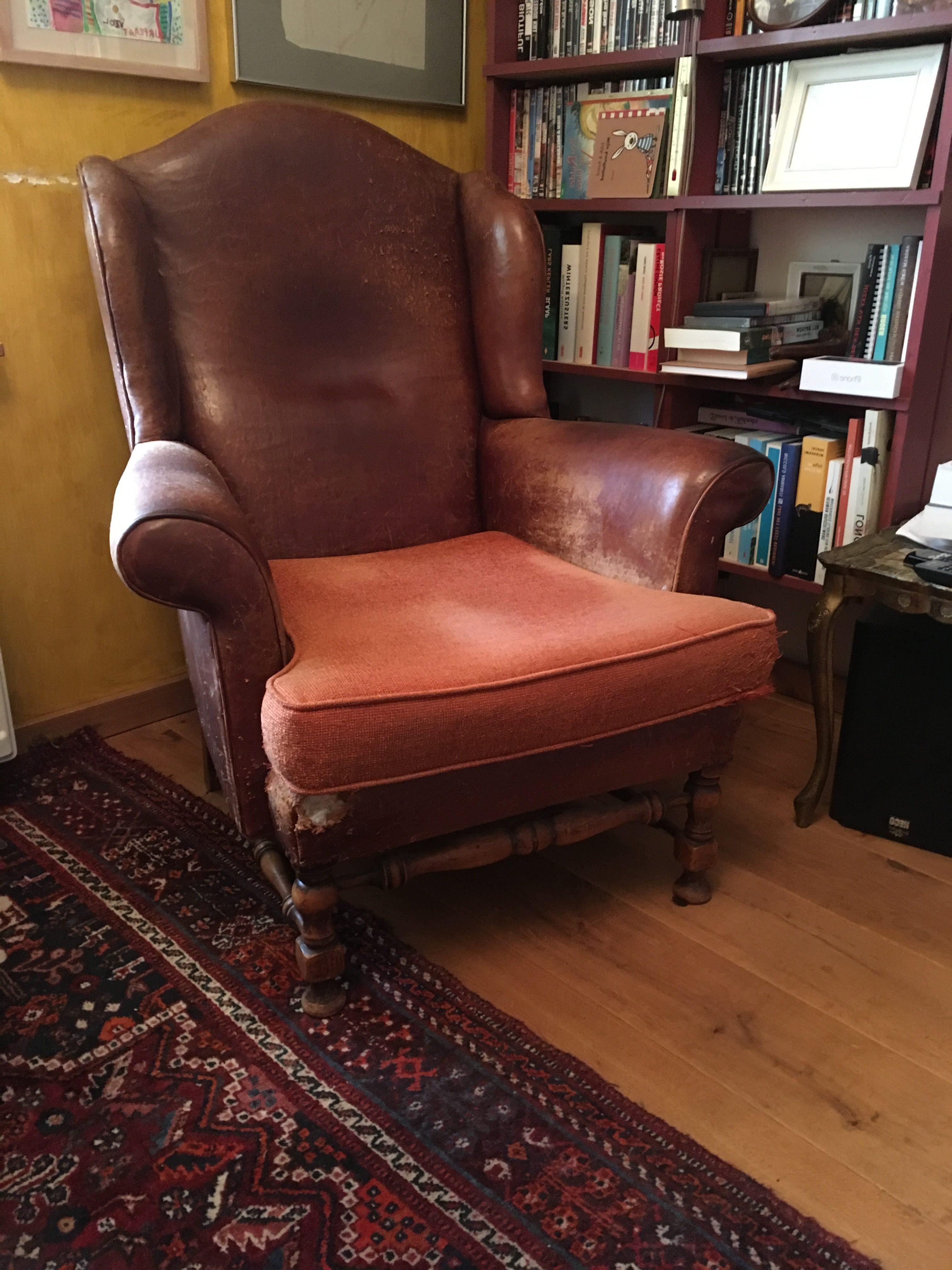 Uitgelezene Doei mooie bruine leren stoel - Hans de verhalen man | Hans de JX-79